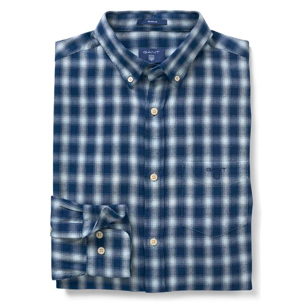 Gant Regular Fit Erkek Mavi Kareli Gömlek