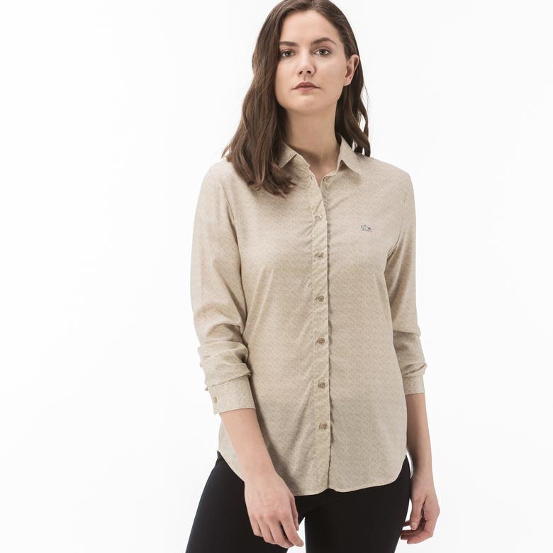 Lacoste Kadın Bej Gömlek