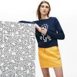Lacoste X Keith Haring Kadın Lacivert Triko