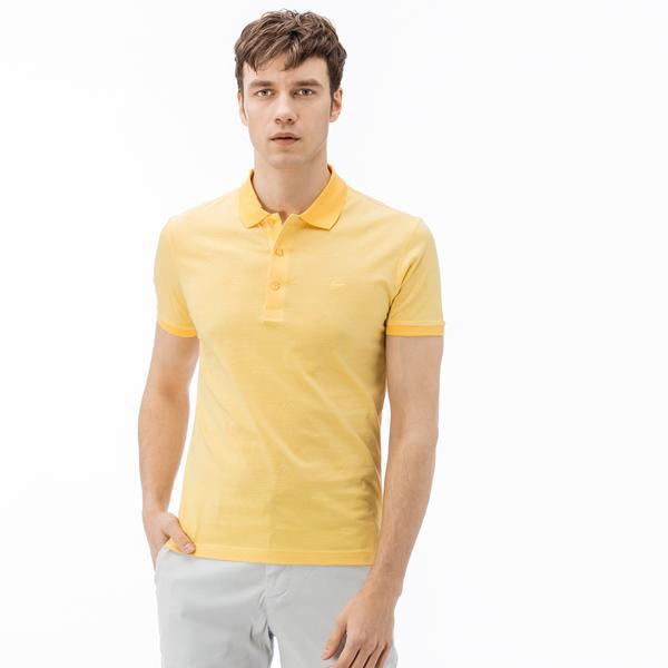 Lacoste Erkek Slim Fit Sarı Kısa Kollu Polo
