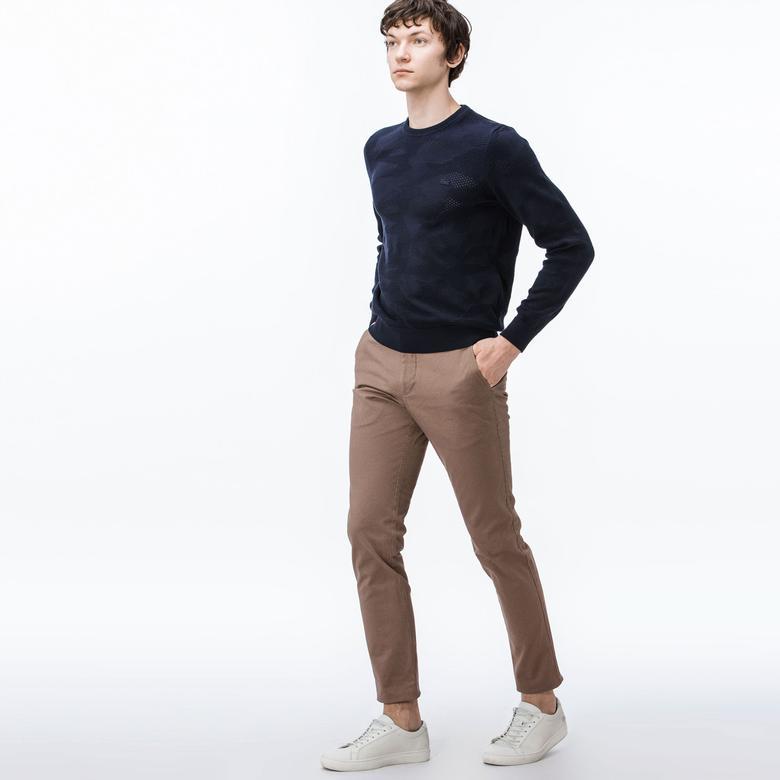 Lacoste Erkek Slim Fit Kahverengi Chino Pantolon