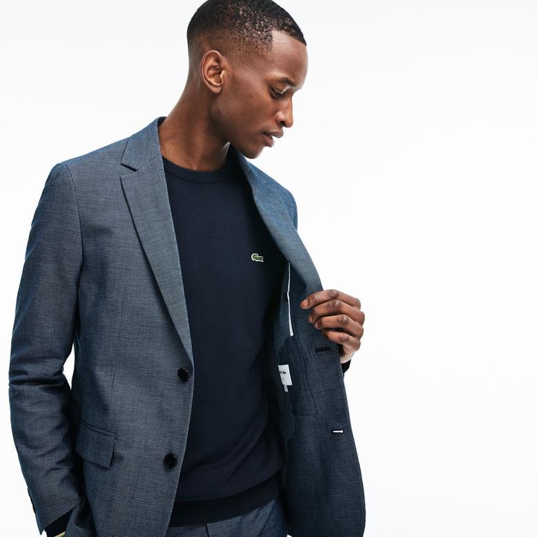 Lacoste Erkek Mavi Ceket