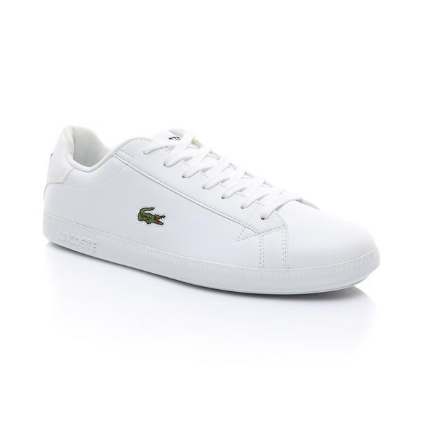Lacoste Graduate Bl 1 Sma Erkek Beyaz Deri Logo Detaylı Sneaker