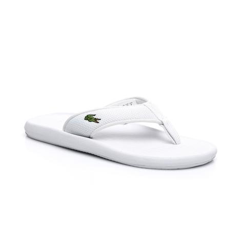 Lacoste Erkek Beyaz Croco Sandal 219 2 Terlik