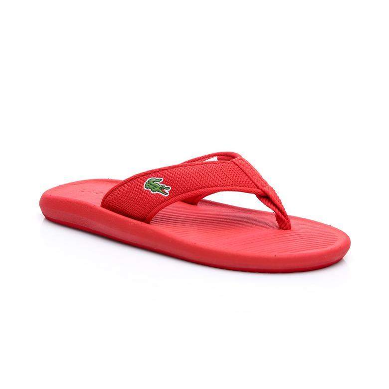 Lacoste Erkek Kırmızı Croco Sandal 219 2 Terlik
