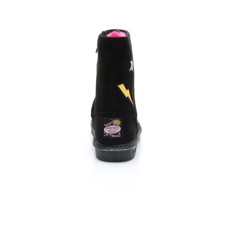 Skechers GlamSlam-Patch Kız Çocuk Siyah Bot