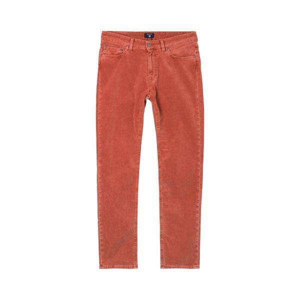 Gant Ston Cord Kadife Erkek Turuncu Slim Pantolon Jean