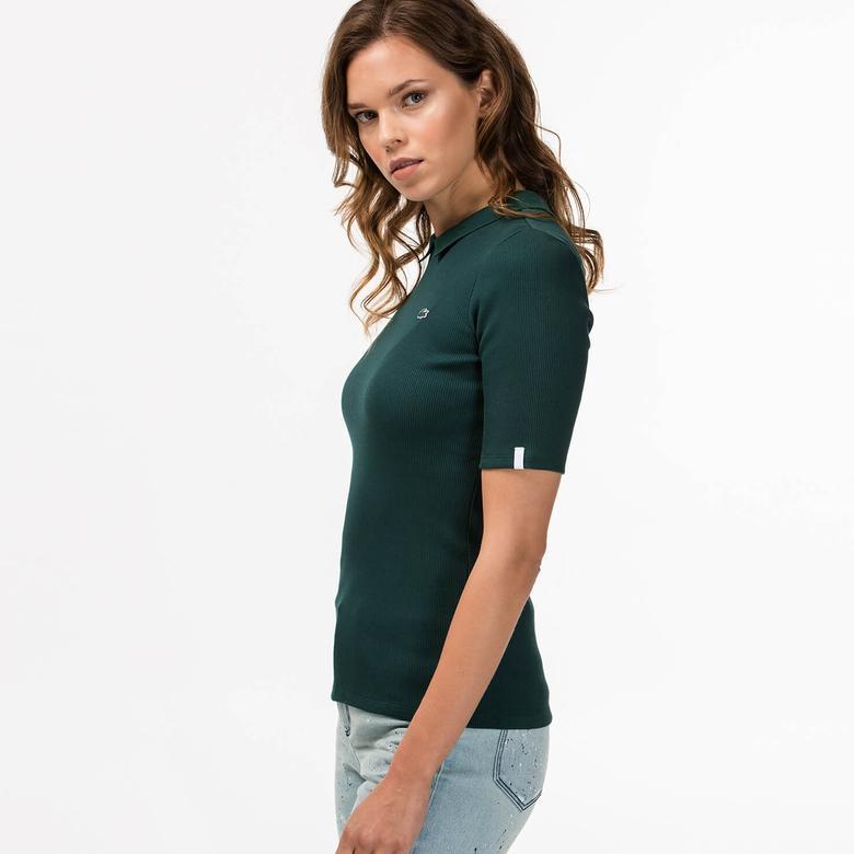 Lacoste Kadın Yeşil Polo