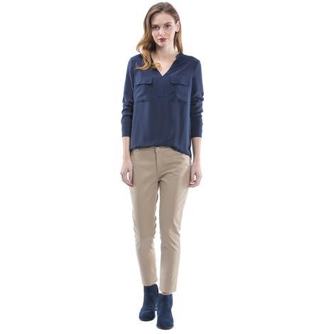 Nautica Kadın Slim Fit Kahverengi  Pantolon