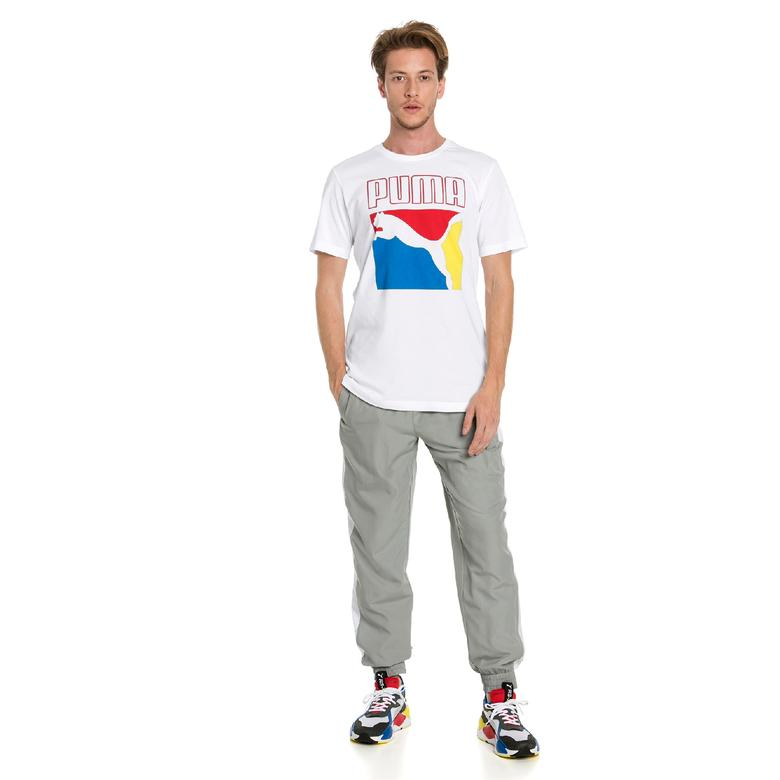 Puma Graphic Box Logo  Erkek Beyaz T-Shirt