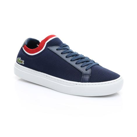 Lacoste La Piquee Erkek Lacivert - Beyaz - Kırmızı Spor Ayakkabı