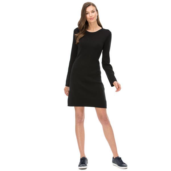 Nautica Kadın Classic Fit Siyah Elbise