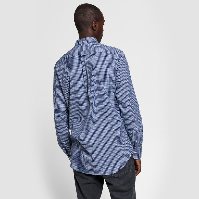 Gant Erkek Mavi Regular Fit Oxford Kareli Gömlek