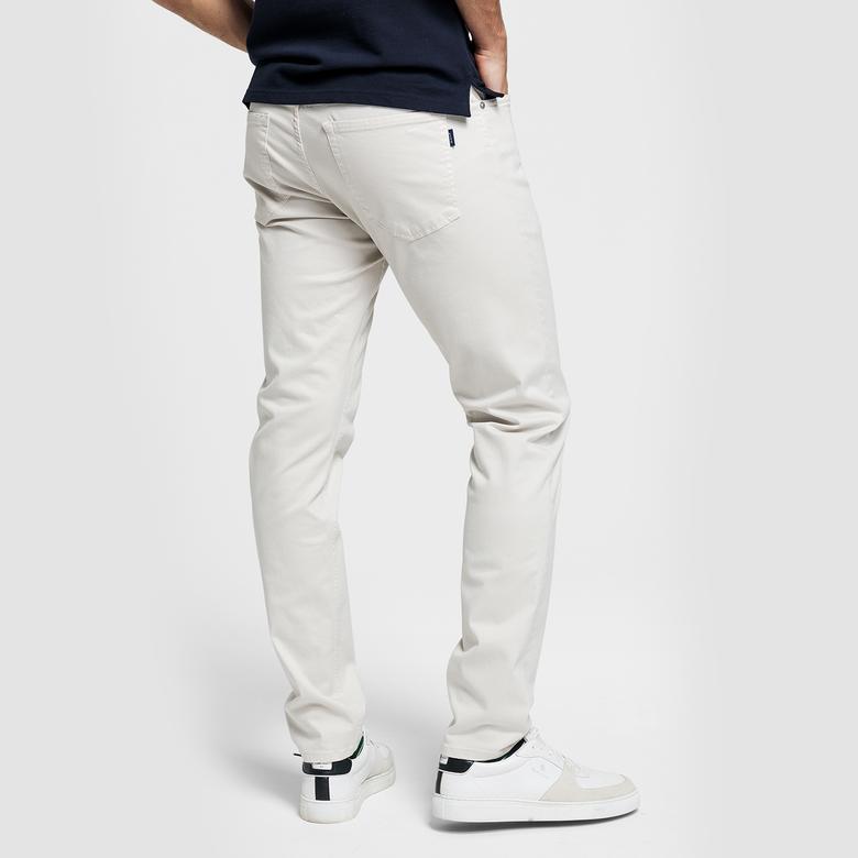Gant Erkek Krem Denim Pantolon