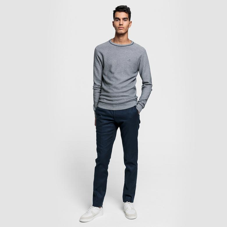Gant Erkek Regular Fit Dokulu Gri Triko