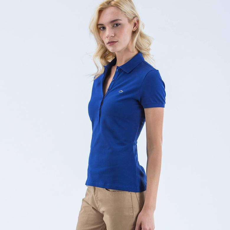 Lacoste Mavi Klasik Kadın Polo