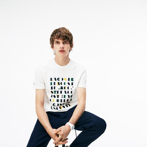 Lacoste Erkek Krem T-Shirt