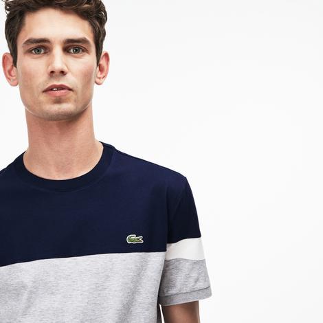 Lacoste Erkek Gri-Lacivert T-Shirt