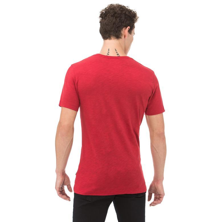 Nautica Erkek Kırmızı Kısa Kollu Slim Fit T-Shirt