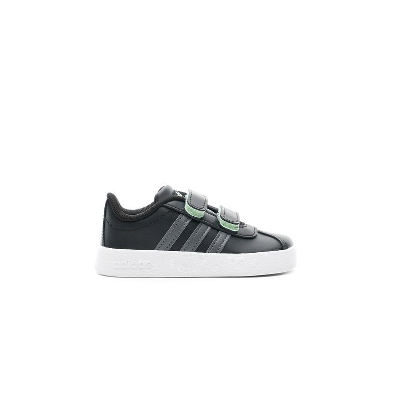 adidas Tennis VL Court 2.0 Çocuk Siyah Sneaker