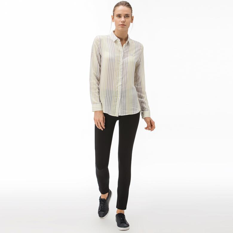 Lacoste Kadın Skinny Fit Lacivert Pantolon