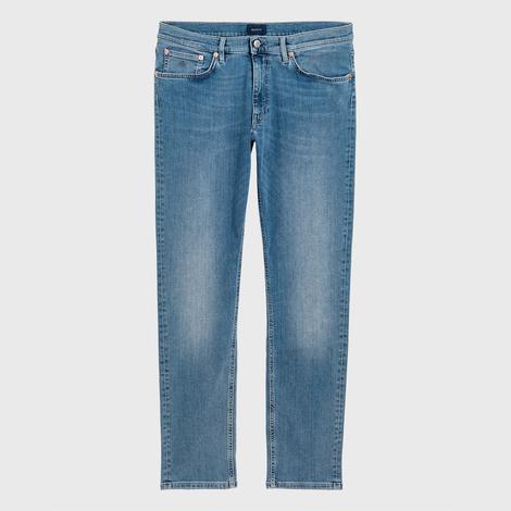 Gant Erkek Mavi Slim Fit Denim Pantolon