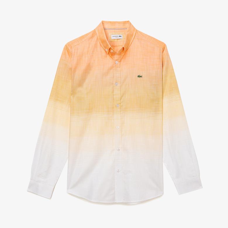 Lacoste Erkek Kısa Kollu Beyaz Slim Fit Gömlek