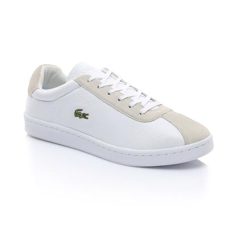 Lacoste Erkek Beyaz - Bej Masters 119 2 Spor Ayakkabı