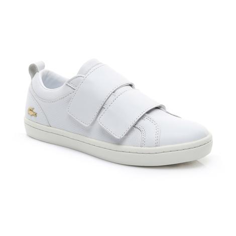 Lacoste Kadın Beyaz - Bej Straightset Strap 1191 Casual Ayakkabı