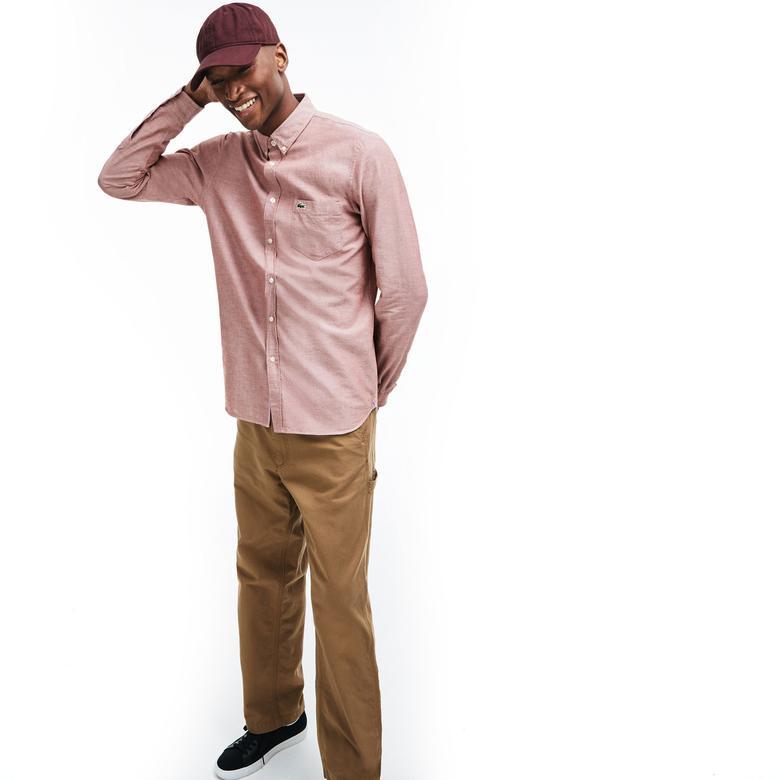 Lacoste Erkek Slim Fit Pembe Gömlek