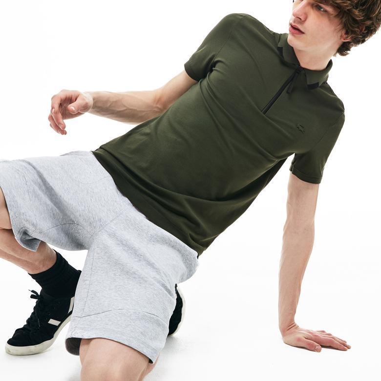 Lacoste Motion Erkek Slim Fit Haki Kısa Kollu Polo