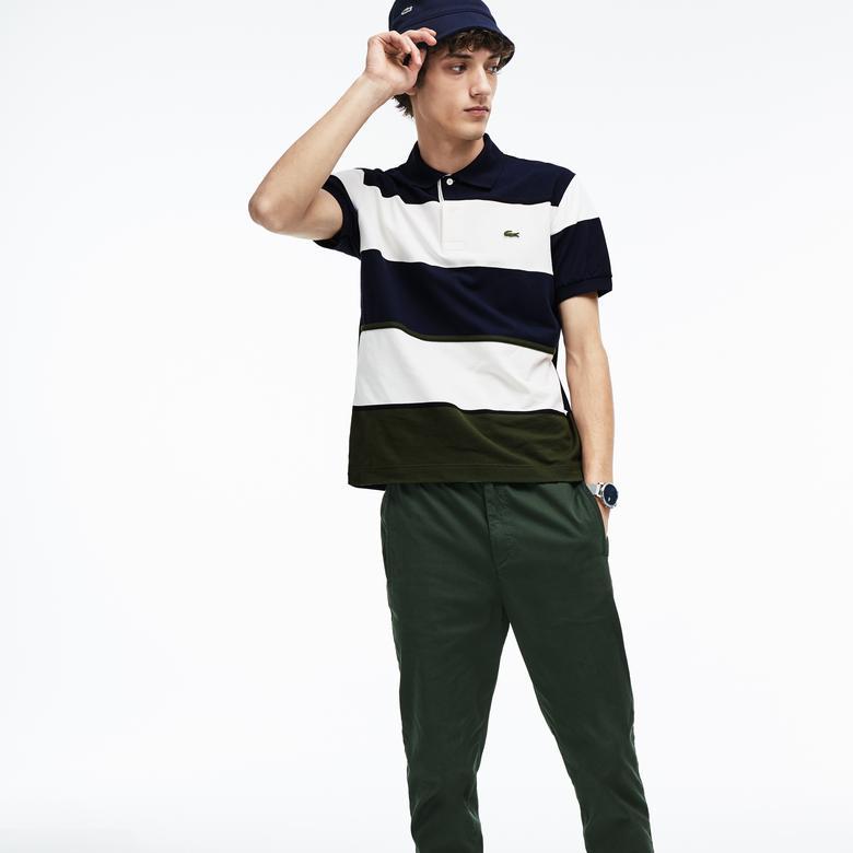 Lacoste Motion Erkek Klasik Fit Renkli Kısa Kollu Polo