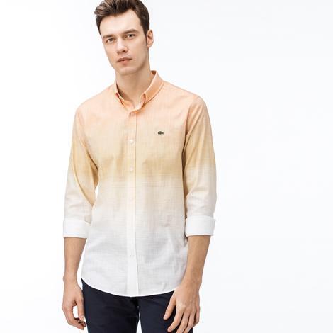 Lacoste Erkek Slim Fit Degrade Renkli Gömlek