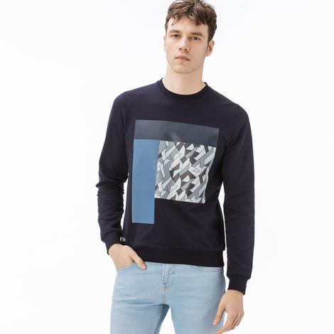 Lacoste Erkek Desenli Lacivert Sweatshirt