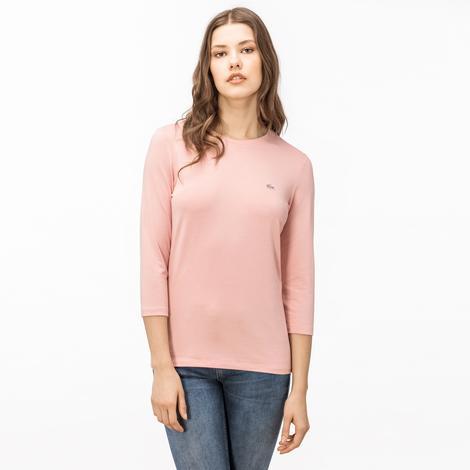 Lacoste Kadın Pembe Uzun Kollu T-Shirt