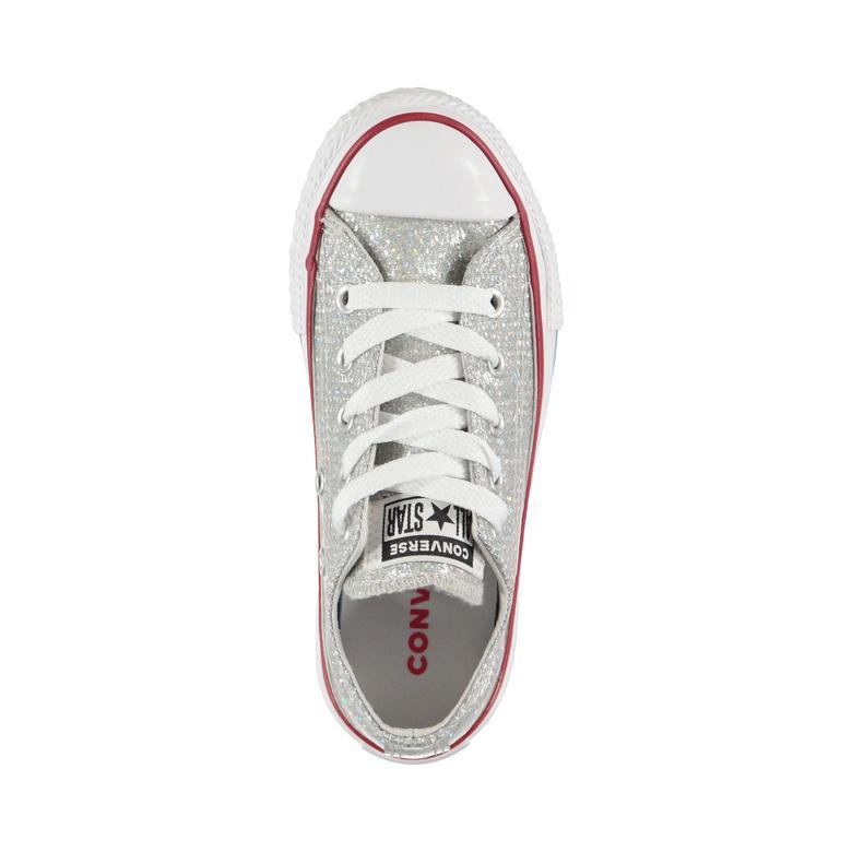 Converse Chuck Taylor All Star Sparkle Çocuk Gri Sneaker