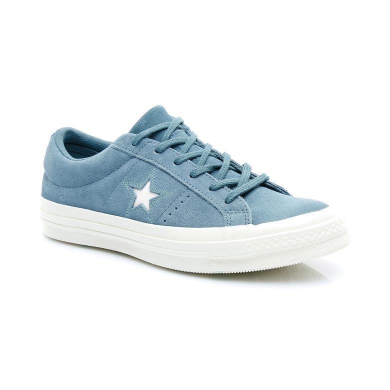 Converse One Star Love Metallic Kadın Mavi Sneaker