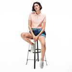 Lacoste Kadın Slim Fit Pembe Kısa Kollu Polo