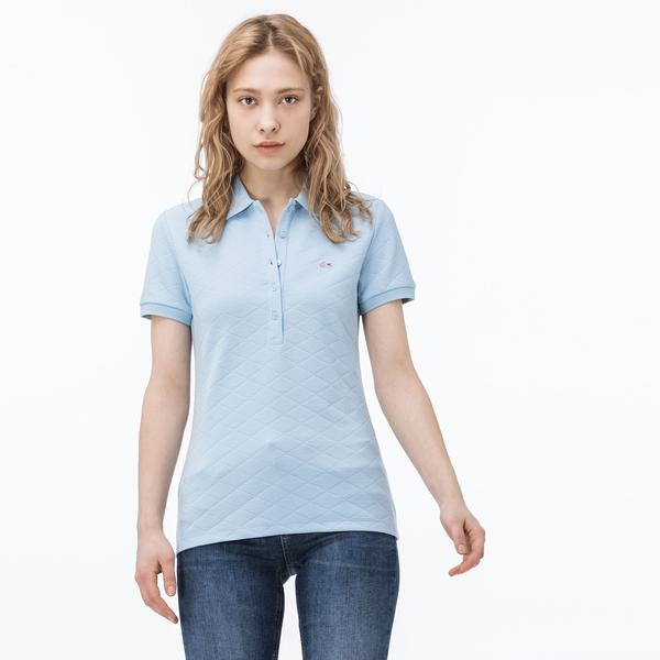 Lacoste Kadın Mavi Kısa Kollu Polo