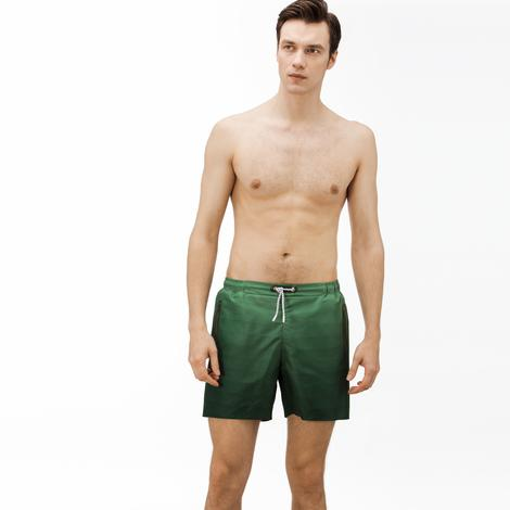 Lacoste Erkek Degrade Yeşil Mayoşort