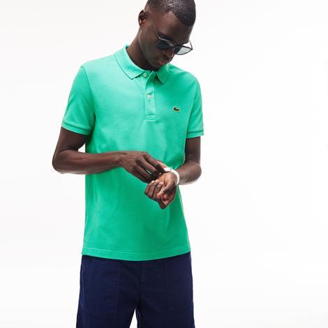 Lacoste Erkek Slim Fit Yeşil Kısa Kollu Polo