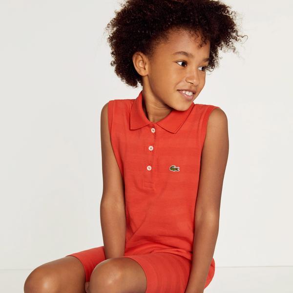 Lacoste Çocuk Kırmızı Elbise