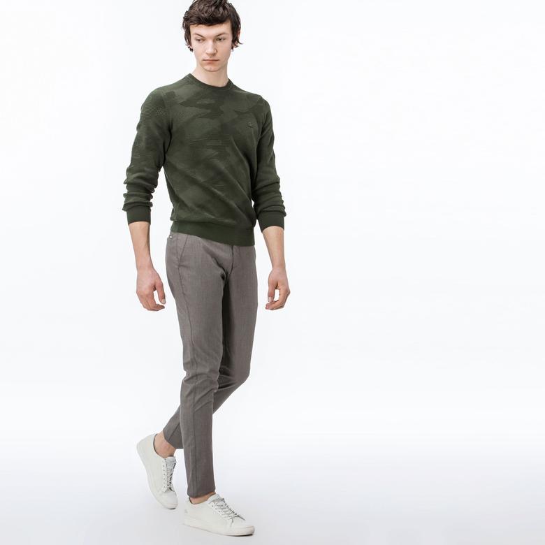 Lacoste Erkek Slim Fit Fitilli Kahverengi Pantolon
