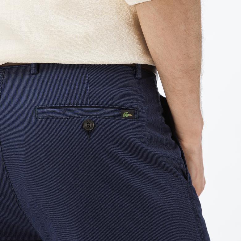 Lacoste Erkek Slim Fit Gofre Lacivert Pantolon