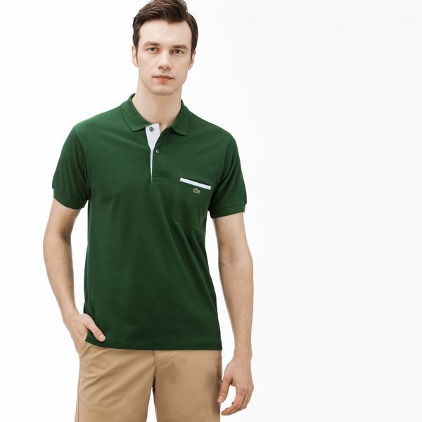 Lacoste Erkek Regular Fit Yeşil Kısa Kollu Polo