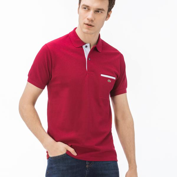Lacoste Erkek Regular Fit Bordo Kısa Kollu Polo