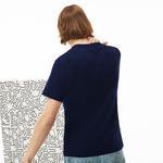 Lacoste X Keith Haring Erkek Regular Fit Lacivert T-Shirt