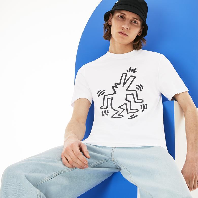 Lacoste X Kieth Haring Erkek Beyaz T-Shirt