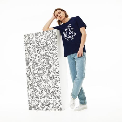 Lacoste X Keith Haring Erkek Regular Fit Lacivert T-Shirt