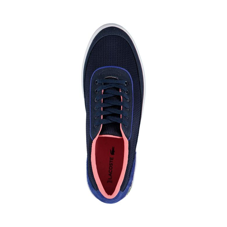 Lacoste Lyonella Bayan Lacivert Tekstil/Deri Ayakkabı Spor